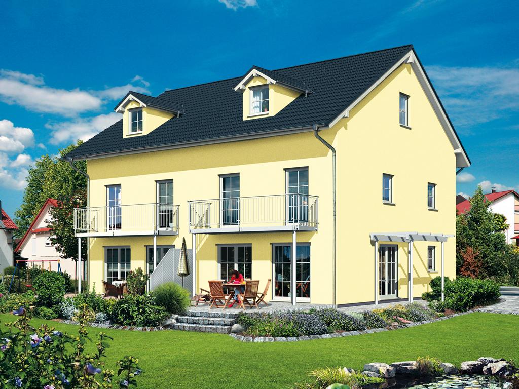 OPTA MASSIVHAUS Doppelhaus 140